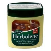 ВАЗЕЛИН КОСМЕТИЧЕСКИЙ с маслом АРГАНА и витамином Е, Dabur Herbolene,  225мл
